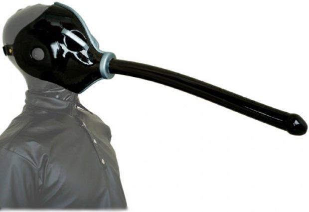 Dildo gas mask