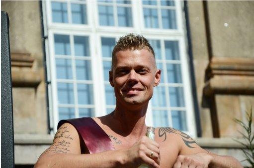 Please meet Mr. Gay Denmark. Muslim.