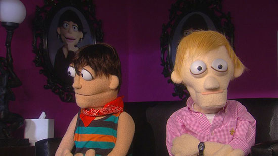 Characters from Felt on Logo TV