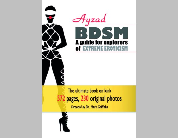 The covers of Ayzad's book BDSM - A Guide for Explorers of Extreme Eroticism
