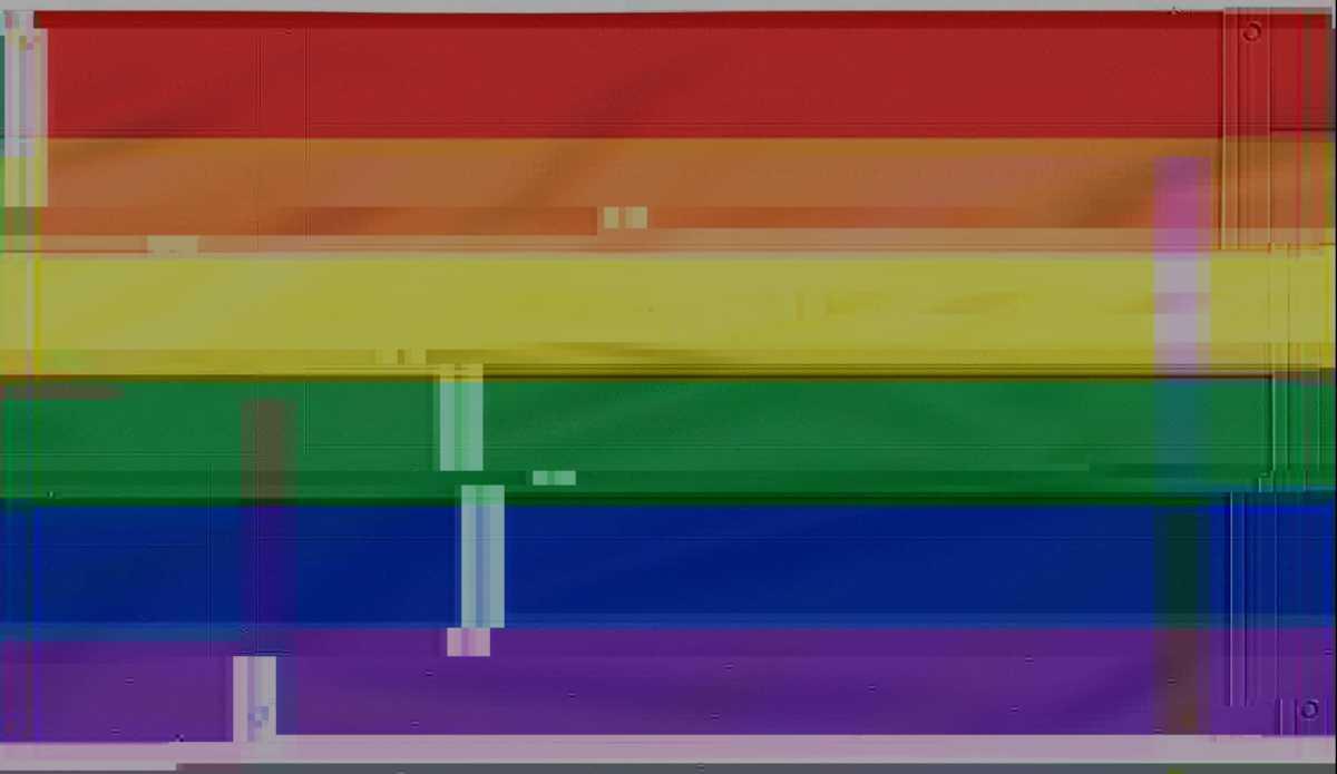 glitched pride